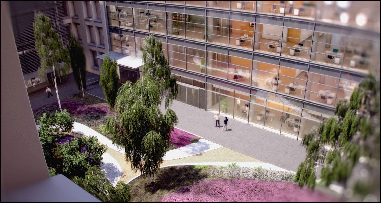 infoarquitectura 3d prado business park volteo