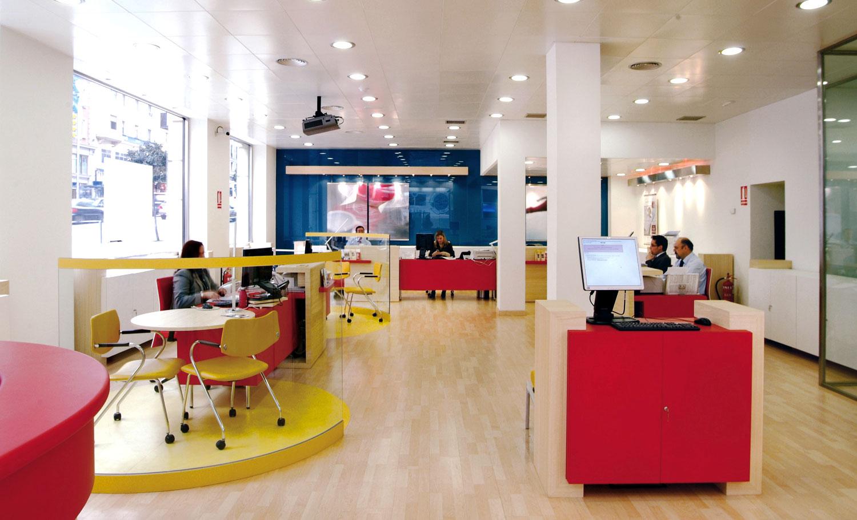 interior Banco Popular en Gran Vía