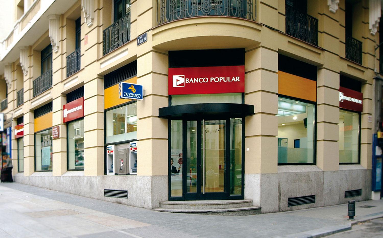 fachada Banco Pupular en Gran Vía