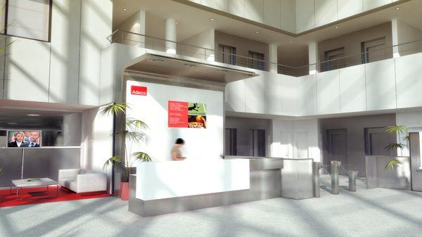 Hall entrada sede Adecco