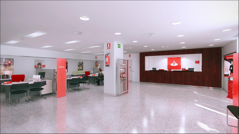 Oficinas centro banco santander volteo for Oficinas santander granada