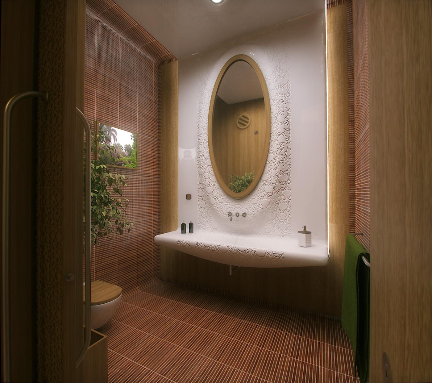 villa arabe baño