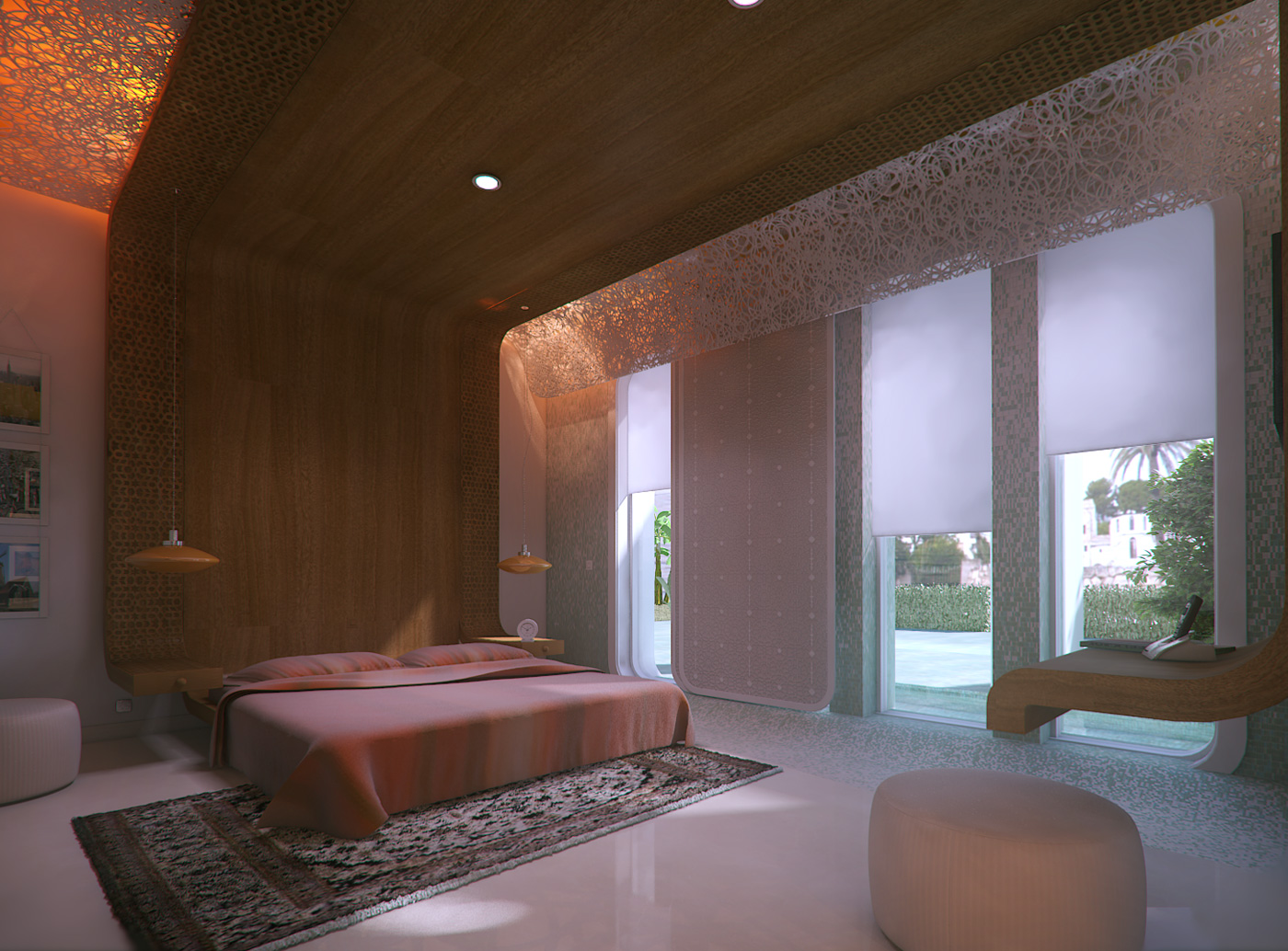 villa arabe dormitorio