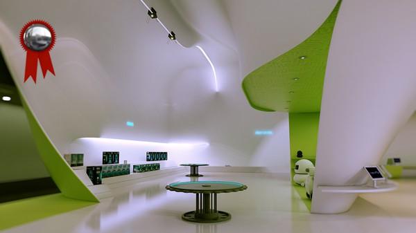 Zona producto. Perspectiva interior Concept Store